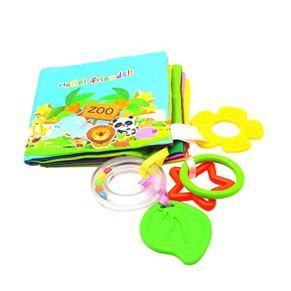 Scrox 1x Libros de Tela para Bebes Inglés Libro Educativo Bebe con mordedor Bebes Libros Blandos Creativo Regalos para…