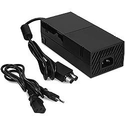 kwmobile Fuente de alimentación para Xbox One - Cable CA para consola Microsoft Xbox One - Adaptador de reemplazo para consola de videojuegos negro
