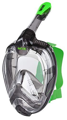 Seac Magica, Maschera Snorkeling Full Face Integrale con Morbido Facciale in 2 Taglie Unisex Adulto, Grigio/Lime, L/L/XL