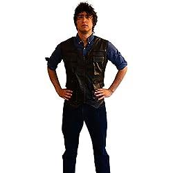 Disfraz de aventura chaleco de piel Jurassic World Chris Pratt chaleco azul marino marrón