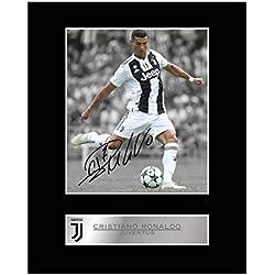 cristiano Ronaldo, autografo Juventus FC autografato immagine regalo stampa