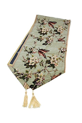 Sin Marca Mantal camino de mesa de algodón diseñado de jacquard decoración de mariposa flores elegante tapicería para tabla, cojín y cocinar (1 unidad)
