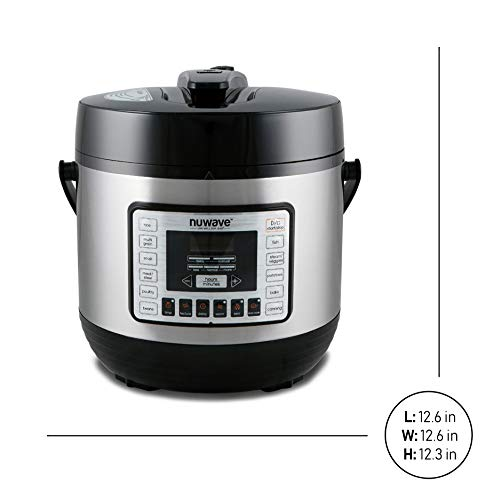 33101 NuWave 33101 6-Quart Electric Pressure Cooker, Stainless Steel, One Size