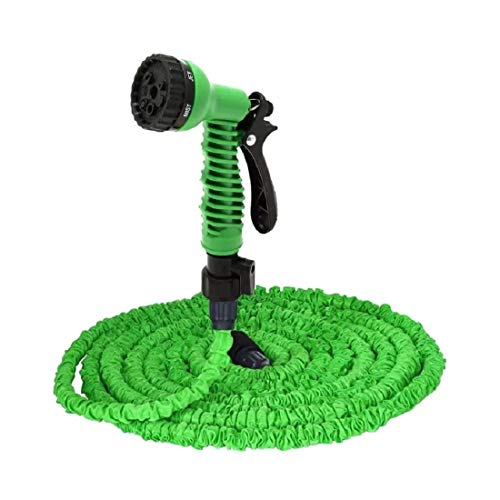 Newlly 50 Ft Expandable Hose Pipe Nozzle for Garden Wash Car Bike with Spray Gun and 7 Adjustable Modes Magic Flexible Water Hose Plastic Hoses Pipe with Spray Gun to Watering Washing Cars