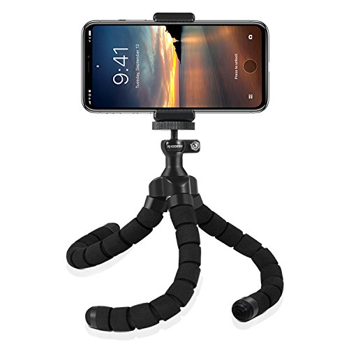 Rhodesy RT-01 Treppiede portatile Octopus Style con Supporto per iPhone, Qualsiasi Smartphone,...