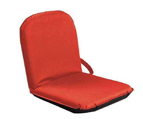 Sitzfix, Bodensitzkissen, Bodenstuhl Outdoor mit Verstellbarer Rückenlehne rot