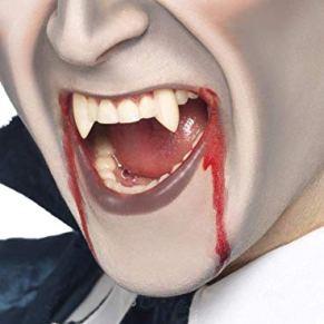 Smiffy'S 20701 Colmillos Funda De Dientes Colmillos De Vampiro, Blanco