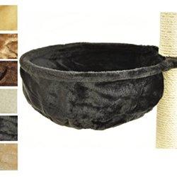 katzeninfo24.de nanook Kratzbaum Liegemulde für kräftige Katzen – Größe XL – 40 cm Ø, Tiefe 12 cm – schwarz