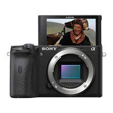 Sony Alpha 6600 - Cámara Evil de 24.2 MP (Sensor APS-C CMOS Exmor R, estabilizador de 5 Ejes, procesador Bionz X, 425 Puntos de AF a 0.02 s, Eye AF, grabación 4K HDR)