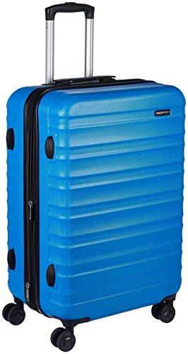 AmazonBasics - Valigia Trolley rigido con rotelle girevoli, 68 cm, Blu chiaro