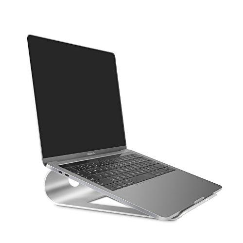 Sausire Support D'ordinateur Portable Support de Refroidissement de Bureau en Alliage d'Aluminium Portatif –Support Universel pour Ordinateurs, Tablettes Netbook Livres ou comme Pupitre Table de Lit