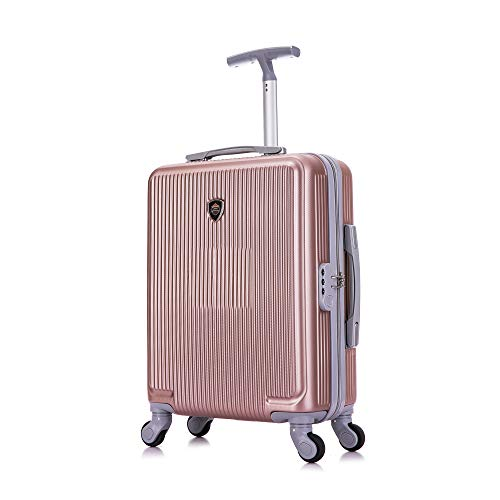 Toctoto 55x40x20cm Lightweight Ryanair Maximum Size Carry On Hand Cabin Luggage Suitcase, Bagaglio a...