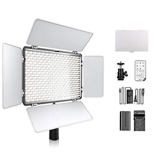 600 LED Dimmable Ultra High Power Panel Videocamera luce video 3200K ~ 5600K con telecomando per...