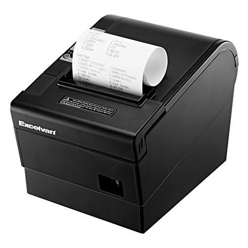 Excelvan Stampante Termica 80mm 300 mm/s Stampa ad alta velocità Etichettatrice portatile con...