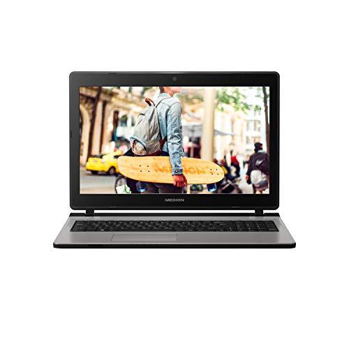 MEDION E6436 39,6cm (15,6 Zoll) Full HD Notebook (Intel Core i3-7100U, 4GB DDR4 RAM, 1TB HDD, 128GB SSD, Win 10 Home) Silber