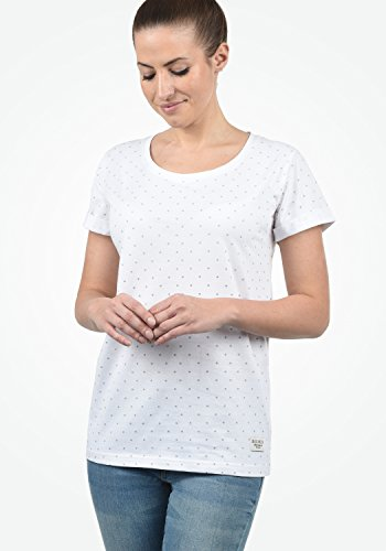 DESIRES Starlet Damen T-Shirt Kurzarm Shirt mit Print und Rundhalsausschnitt Aus 100% Baumwolle, Größe:XS, Farbe:Light Grey (2325) - 2