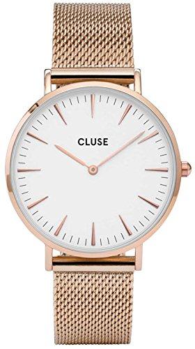 Cluse Orologio da Donna Analogico al Quarzo con Cinturino in Acciaio Inox – CL18112, 38 mm, Rose...