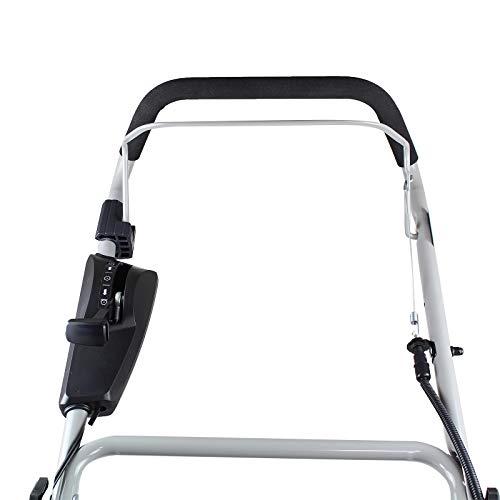 Hyundai 210cc 400mm Petrol Lawn Scarifier & Aerator Push HYSC210 handle