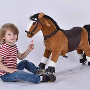 UFREE Horse Best Presenta para niños, Action Pony con Trenzas, 73 cm Tamaño pequeño, Presente para niños 3-6.