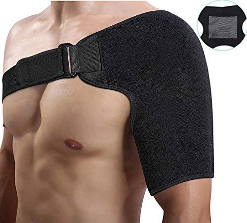 Doact Neopren Verstellbare Schulterbandage für Rotatorenmanschette Verletzungen,Reduziere Schulterschmerzen. Schulterwärmer passend für Linke und Rechte Schulter, für Männer & Frauen