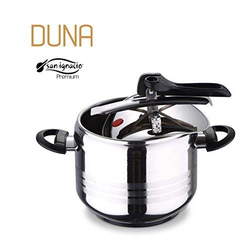SAN IGNACIO Premium-olla a Pressione 7l SGP Duna, Acciaio Inox, Cromato