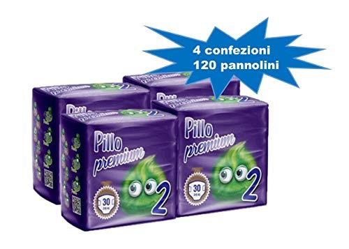 PILLO PREMIUM TAGLIA 2 MINI 3/6 KG CARTONE 4 CONFEZIONI (120 pannolini) ...