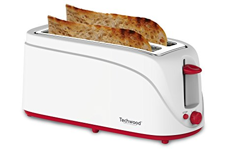 Techwood Tostapane con 2slot larghe 1300W