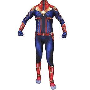 SPIDERMANHTT Capitán Marvel Cosplay Disfraz Medias Adultas Disfraces de Halloween Adulto y Niño Impresión 3D Spandex Lycra ( Color : Photo Color , Size : ChildXS )