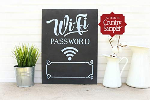 Derles Wood WiFi Internet Password Sign, Lavagna per la Decorazione della Stanza degli Ospiti