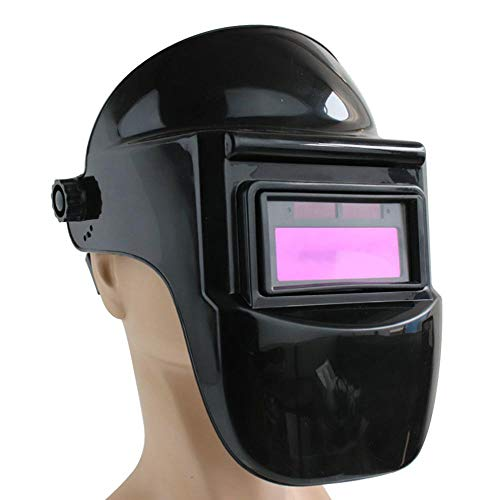 Solar Powered Auto Darkening Welding Helmet with Headband and Shade Range 9-13 for Welder Mig Tig Arc Welder Electrowelding and Grinding