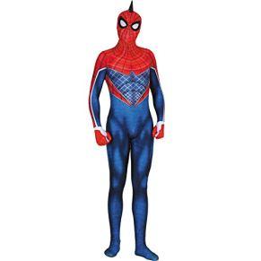 QWEASZER Ps4 Juego Punk Spider-Man Spandex Mono Traje Marvel Avengers Disfraz Zentai Onesie Ropa Halloween Cosplay Fiesta Body Película Onesies,Spiderman-170~175cm
