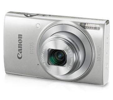 Canon IXUS 190 20MP Digital Camera with 10x Optical Zoom (Silver) with Memory Card + Camera Case
