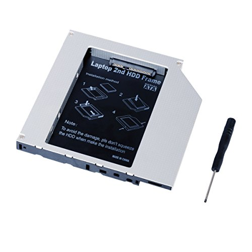 QUMOX Laptop Secondo Hard Drive Dvd bay Caddy 12,7 Millimetri SATA a SATA F Acer/ASUS/dell/Toshiba