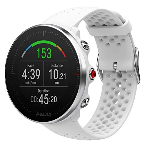 Polar Vantage M, Sportwatch per Allenamenti Multisport, Corsa e Nuoto, Impermeabile con GPS e Cardiofrequenzimetro Integrato, Unisex Adulto, Bianco, S/M