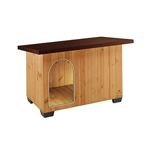 Ferplast Casetta per cani da esterno BAITA 100 Cuccia in legno ecosostenibile, Piedini isolanti in...