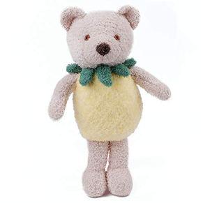NIMI Cute Bear Sleeping Comfort Stuffed Soft Plush Dolls Toy Baby Girls Gifts (Marrón) 11.8x7.9 Pulgadas