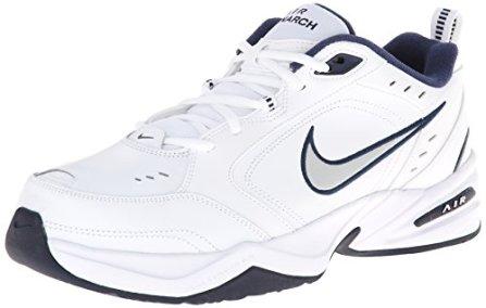 Nike-Air-Monarch-IV-Zapatillas-de-Gimnasia-para-Hombre-Blanco-WhiteMetallic-Silver-102-41-EU