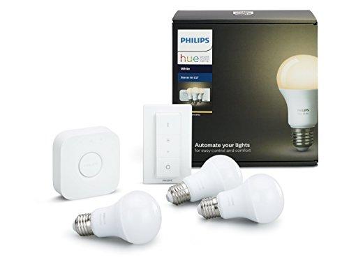 Philips Hue White - Kit de 3 bombillas LED...