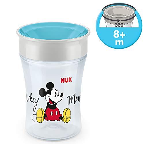 NUK Magic Cup Disney Mickey - Bicchiere Antigoccia con Topolino per Bambini, Bordo 360°, senza BPA, 8+ mesi, 230 ml