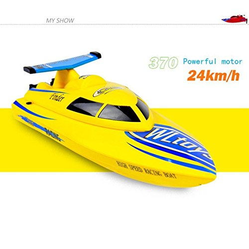 Faironly WL911 4CH 2.4G High Speed? ?Racing RC Boot RTF 24 km/Std Giallo