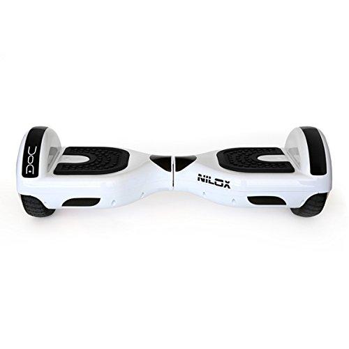NILOX Hoverboard Doc UL 2272, 6,5 Pouces, Smart Scooter, Gyropode Électrique Skateboard Auto-équilibrage, 360 W, Vitesse maximale 10 km/h, Blanc