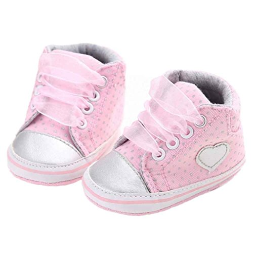 UOMOGO Scarpine neonato per 0-18 Mesi Scarpe Sportive (Età: 0~6 mesi, Rosa)