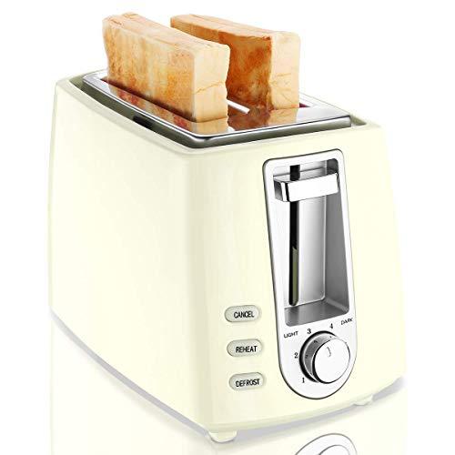 CUSIBOX - Tostapane a 2 fette, 750 W, con 6 Livelli di doratura, scongelamento, Riscaldamento e...