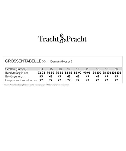 Tracht & Pracht - Damen 100% Wildleder - Trachtenlederhose Kurz - Lederhose Schwarz - 36 - 5