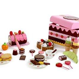 2847 Contenitore per dolciumi small foot, Scatola di caramelle di legno, accessori per negozio e cuc
