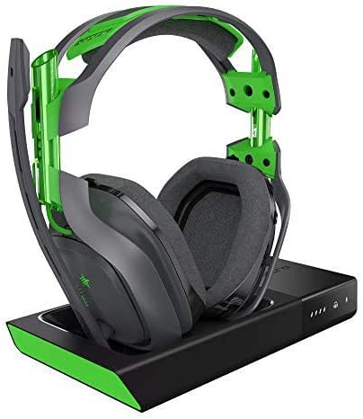 ASTRO Gaming A50 Headset (kabellos) + Basisstation mit Dolby 7.1 Surround Sound (kompatibel mit Xbox One, PC, Mac) grau/grün