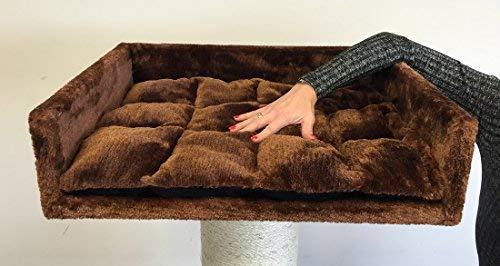 RHRQuality Kratzbaum ersatzteile liegefläche Braun Mega groß für katzenbaum Katze kratzbaum Grosse Katzen 60x43x16cm stabil kratzbaumersatzteile liegemulde