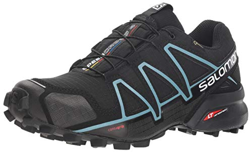 Salomon Speedcross 4 GTX W, Scarpe da Trail Running Impermeabili Donna, Nero (Black/Black/Metallic...