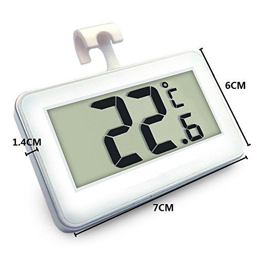 Unicoco - Termometro frigorifero digitale LCD termometro congelatore con gancio