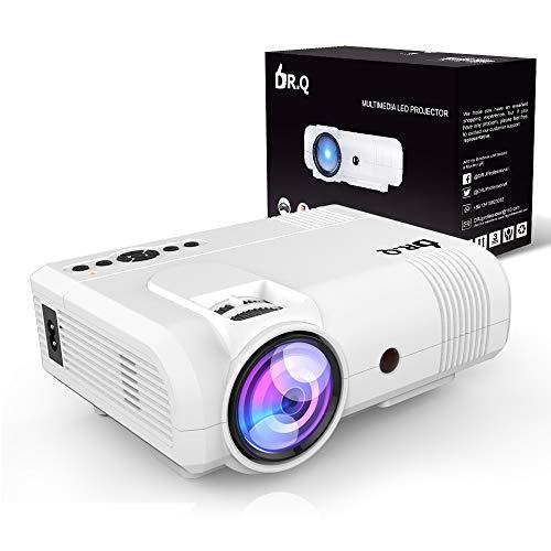 DR.Q Proiettore a 3600 Lux, Mini Proiettore, 50000 ore, il Videoproiettore supporta 1080P,...